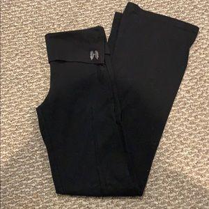 Victoria Secret Fold Over Waist Flare Yoga Pants